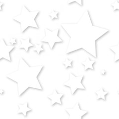 White star background with shadows