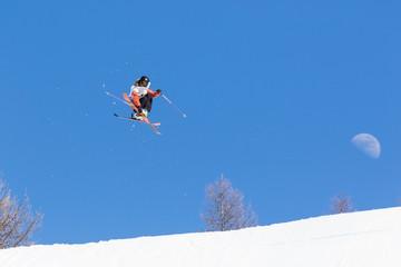 freestyle ski & moon