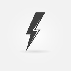 Lightning vector black icon
