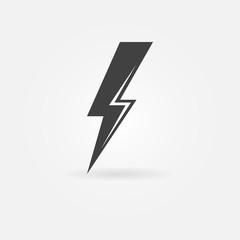 Lightning vector black icon