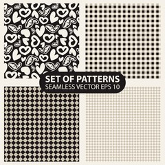 set of seamless patterns from cells and hearts
