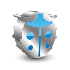 Ladybird 3D icon