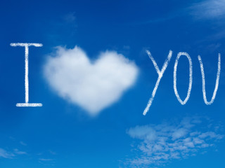 """I Love you"" message in the sky"