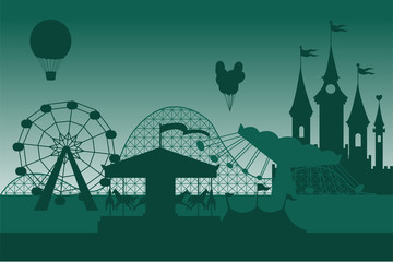 Amusement park background