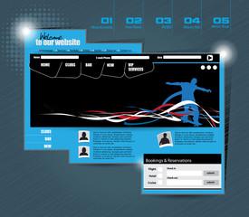 Website template. Easy editable vector