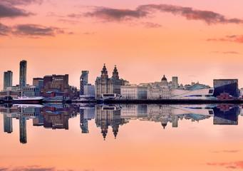 Panoramic skyline liverpool UK