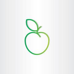 green apple icon design element