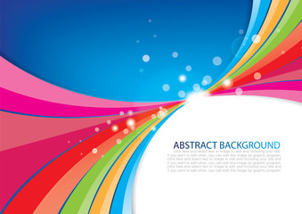 Abstract background with Multicolor curve design