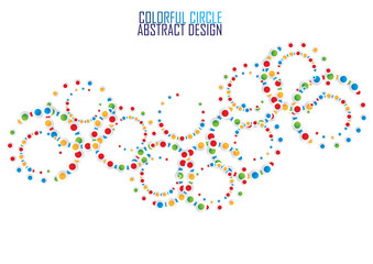 Multicolor circle abstract background