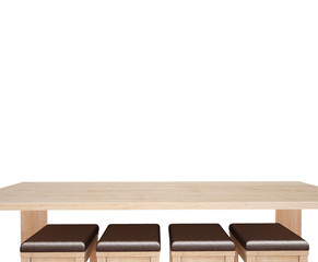 wooddesk with white background