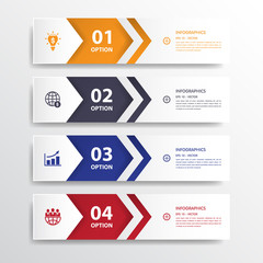 Design clean number banners template/graphic or website layout.