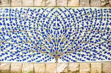 Decorative wall in public garden