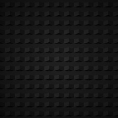 black 3d geometric seamless pattern