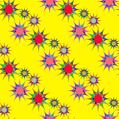 seamless pattern with colorful stars