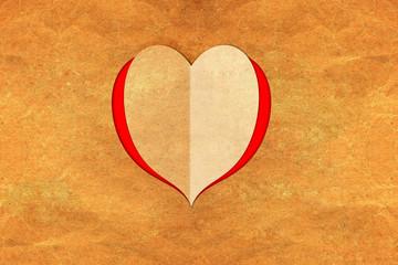 Valentines  paper hearts.