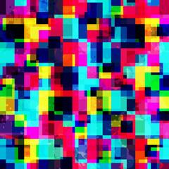 bright pixel seamless pattern