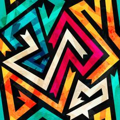 Fond de hotte en verre imprimé Bestsellers music maze seamless pattern with grunge effect