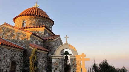 stavrovouni monastery in the mountains of Cyprus