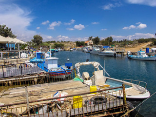 fishing port on the east coast of Cyprus