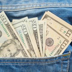 Dollars in pocket