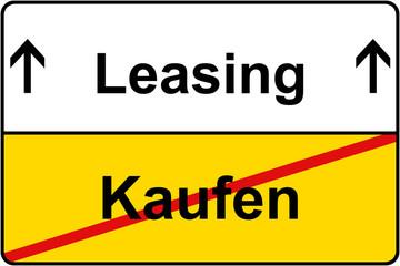 Kaufen vs. Leasing Schild