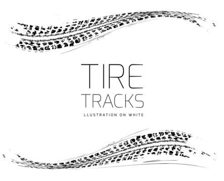 Tire tracks background