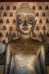 Ancient Buddha in Vientiane, Laos
