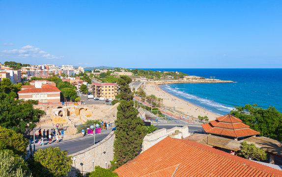 Coastal view of Tarragona city, Catalonia, Spain
