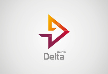 Delta Arrow logo vector