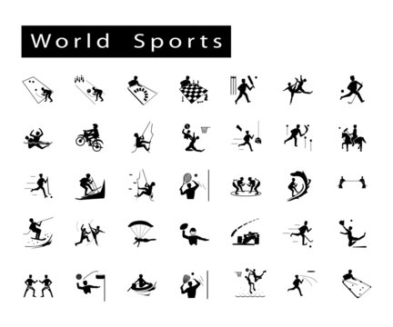 Set of 35 World Sport Icons