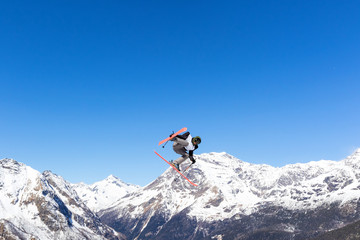 jump in the Alps