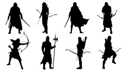 elf silhouettes