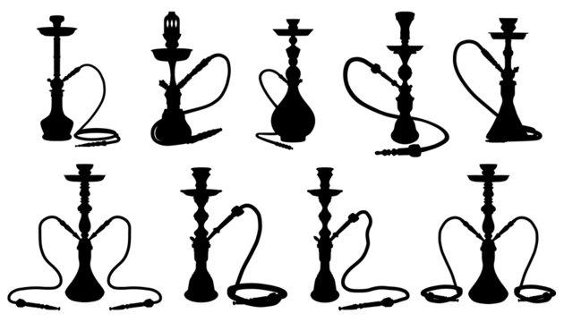 shisha silhouettes