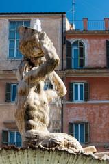 Roma Piazza Barberini Fontana del Tritone
