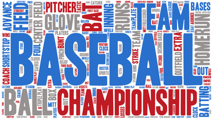 Word Cloud - Baseball Championship, Banner