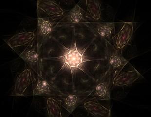 Black Abstract Halftone Design Element, shape illustration