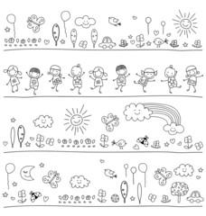 black and white pattern for children
