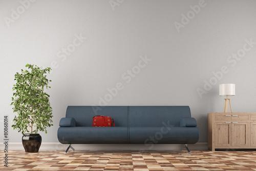 sofa vor wand im wohnzimmer stockfotos und lizenzfreie bilder auf bild 80868014. Black Bedroom Furniture Sets. Home Design Ideas