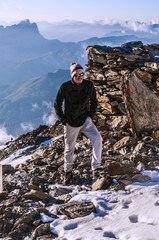 climber in french alps