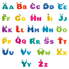 cartoon monster alphabet