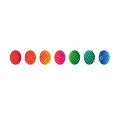 Easter eggs colourful vector illustration