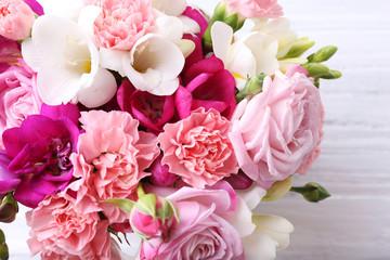 Beautiful fresh spring flowers, closeup