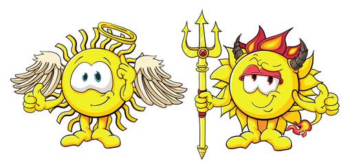 Cute cartoon sun