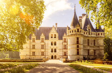 In de dag Kasteel The chateau de Azay-le-Rideau, castle in France
