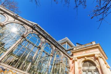 Kristallpalast im Retiro-Park in Madrid, Spanien
