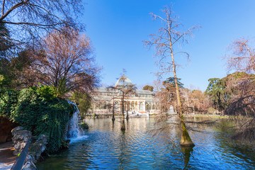 Kristallpalast im Retiro-Park in Madrid, Spanien