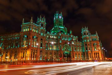 Palacio de Comunicaciones am Plaza de Cibeles in Madrid