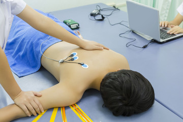 electrodes to tens unit