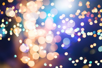 elegant abstract background with bokeh lights and stars
