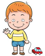 Vector illustration of Cartoon Boy